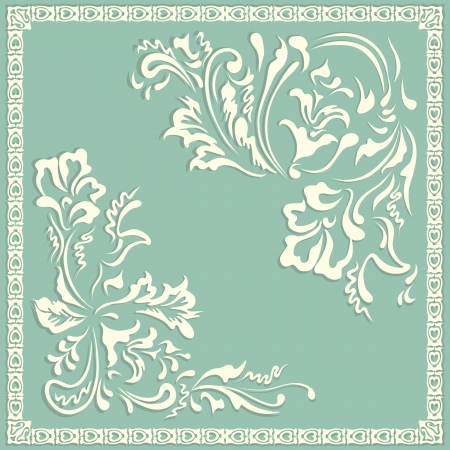 swirling pattern, floral elements Vector