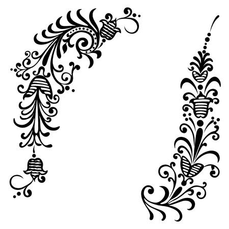 デザイン花と花の装飾のための要素  イラスト・ベクター素材