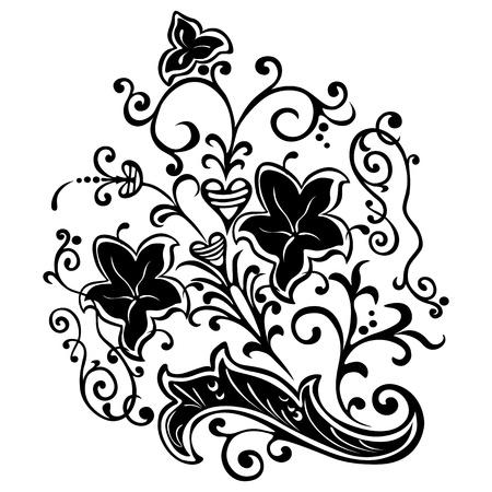 motif, swirling floral decorative elements