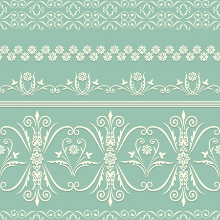 webbing: Webbing, lace, border seamless pattern with swirling decorative floral elements. Edge of the fabric, wallpaper