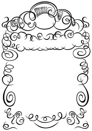 frame with swirling calligraphy decorative elements Vector