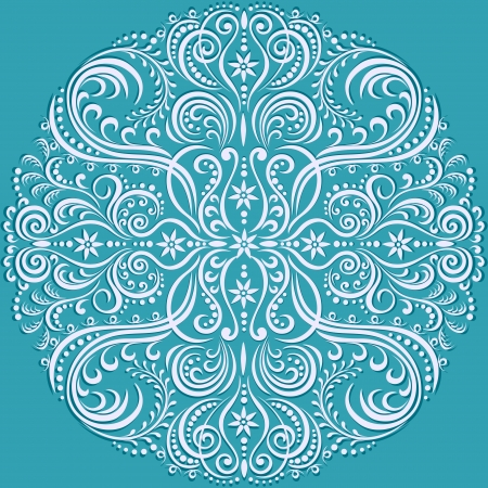 swirling floral pattern, abstract ornament Illustration