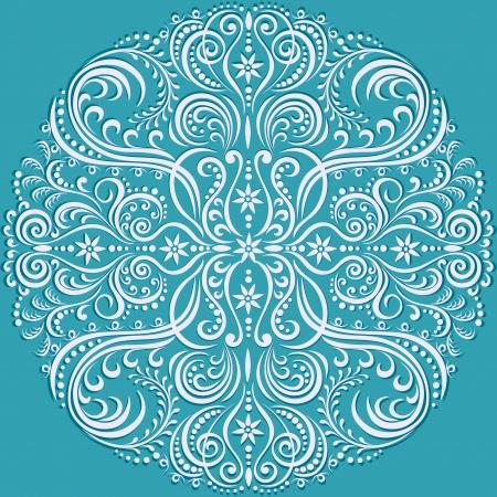 moderne: tourbillonnant motif floral, ornement abstrait