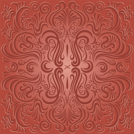 Design pattern with swirling floral decorative ornament Vector