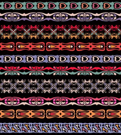webbing: Set of seamless lase trims border pattern, silhouette design ornament