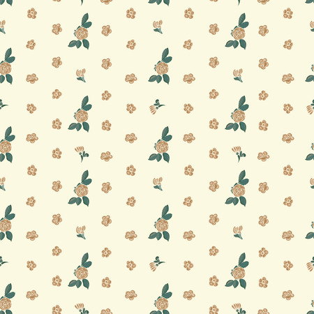 womanly: Seamless floral rustic background with flowers