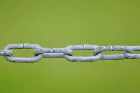 Chain fence. photo
