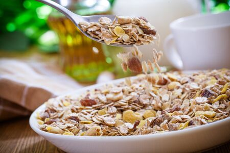 muesli: Crunchy muesli Stock Photo
