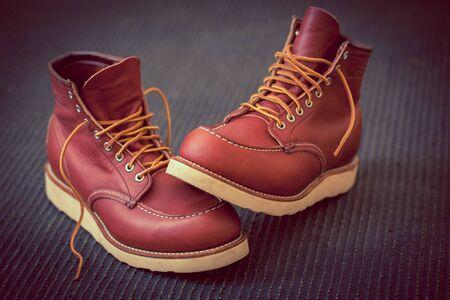Work  Boots Stok Fotoğraf