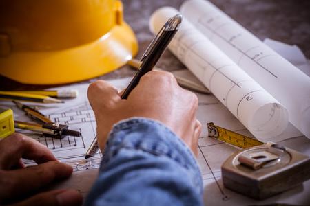 건축 설계 및 프로젝트 청사진 도면 스톡 콘텐츠