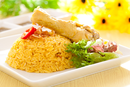 Chicken Biryani asian style. halal food