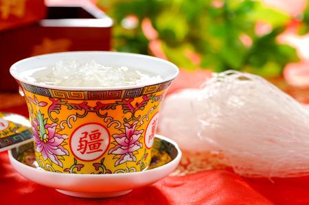 새 둥지 잔, 아시아 요리 스톡 콘텐츠