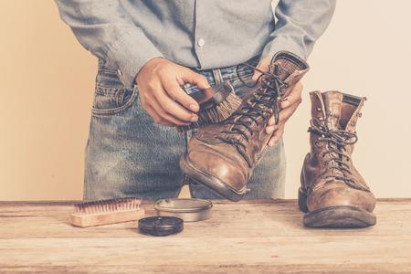 가죽 신발 정비 부츠