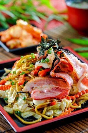 Yaki soba noodles, japanese cuisine Stock Photo