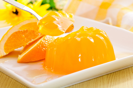 Orange jelly fruit with orange