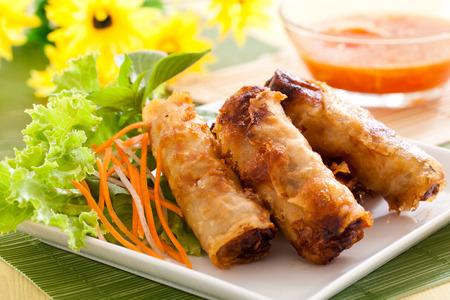 Crispy spring rolls, vietnamese food style
