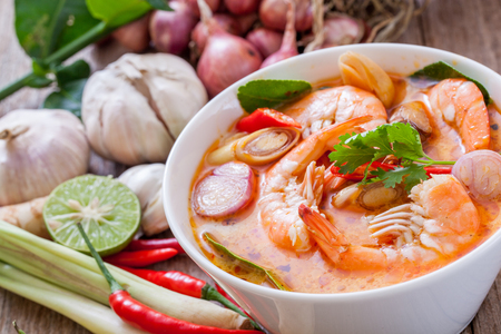 Tom Yum Goong, Thais eten Stockfoto