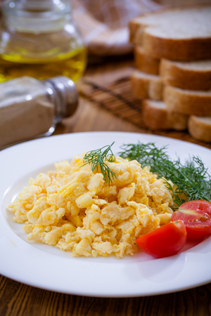 Delicious Egg Omelette with bread