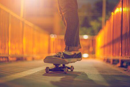 Skateboarding lifestyle extreme sports 免版税图像