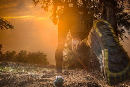 Trailrunning bei Sonnenuntergang