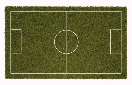 Soccer or football field 3D