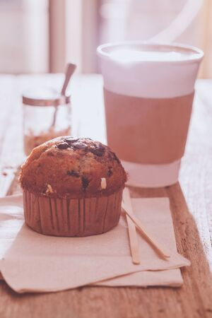 Muffin and latte art