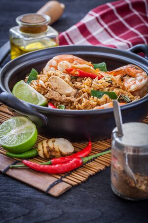 Fried rice with spicy seafood ,Thai Food