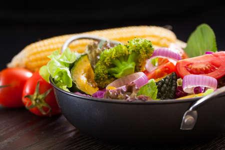 Fresh vegetable salad,healthy food Banco de Imagens