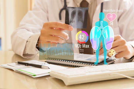 Doctor examining a lung radiography Stok Fotoğraf