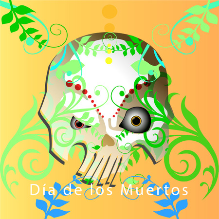 Greeting card with day of the dead