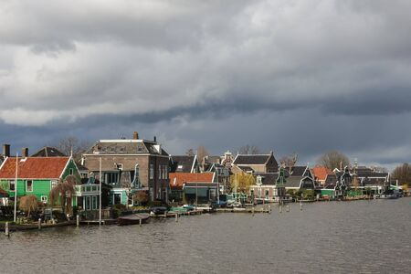 Typical houses of the Zaanse Schans in Holland, the Netherlands