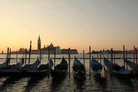 Famous Veniceview of gondolas, Italy