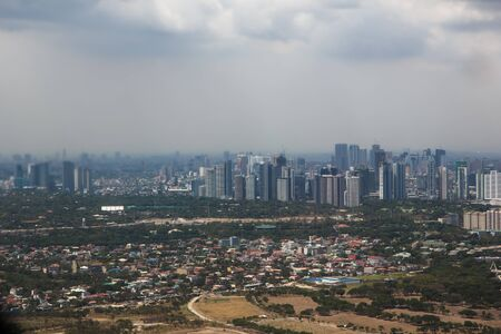 Manila from the air, capital of the philippines 新聞圖片