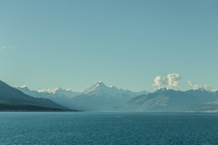 Mount Cook, Lake Pukaki, National Park Southern Alps ,New Zealand