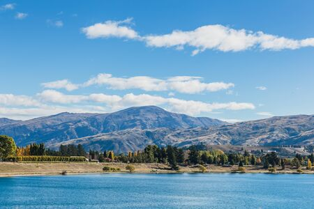 Queenstown downtown with the remarkable range, South island, New Zealand