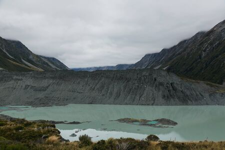 Hooker Lake, One of the most popular walks in AorakiMt Cook National Park, New Zealand Stock Photo