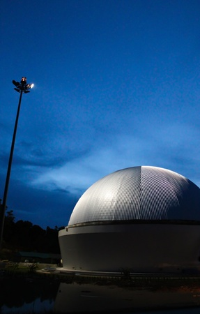 The sphere architecture of the planetarium