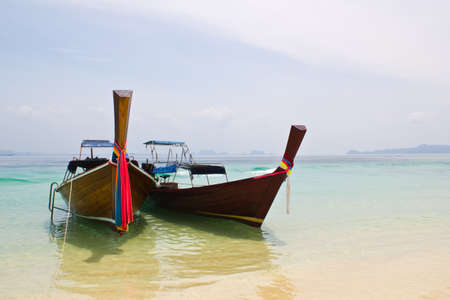 traditonal long tail boat, Koh Kradan, Thailand Stock Photo - 12988643