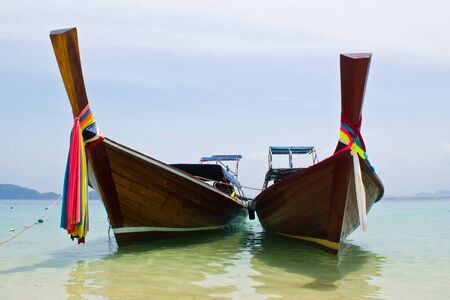 traditonal long tail boat, Koh Kradan, Thailand Stock Photo - 12988632