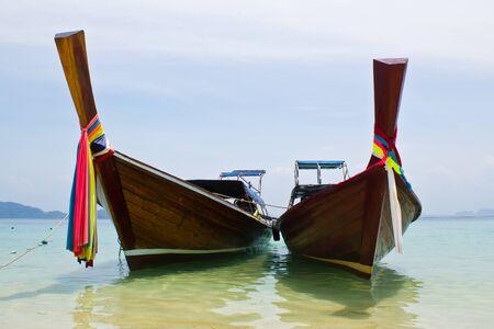 traditonal long tail boat, Koh Kradan, Thailand Stock Photo - 12988632