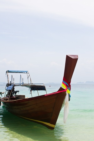 traditonal: traditonal long tail boat, Koh Kradan, Thailand Stock Photo