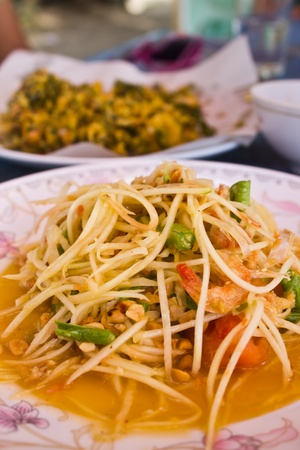 Som Tam,Thai papaya salad hot and spicy