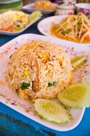 Thai fried rice with crab Editorial