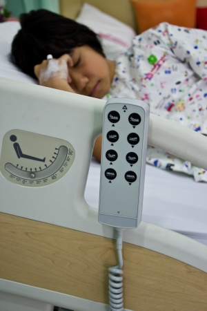 remote control of hospital bed Stock Photo