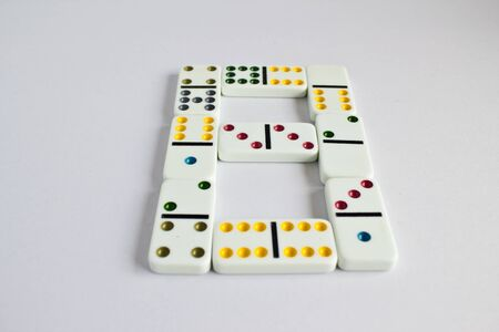 Colorful dominos B shape Stock Photo