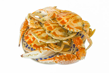 steamed crab in a plate