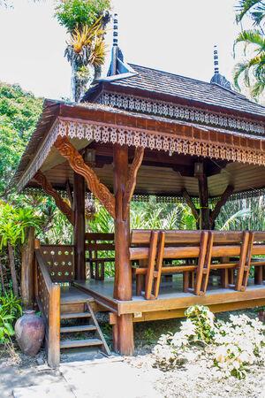 pavillion: Thai tradition wood pavillion Stock Photo
