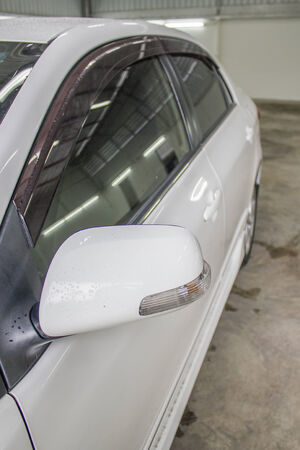 sidelight: Car side mirror with sidelight
