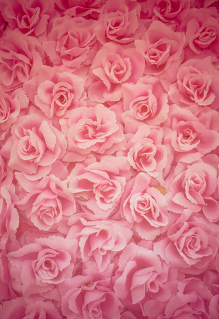 background pattern: fabric pink rose background