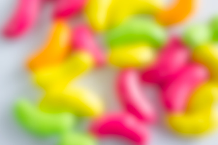de focused: abstract de focused blur background of colorful candy